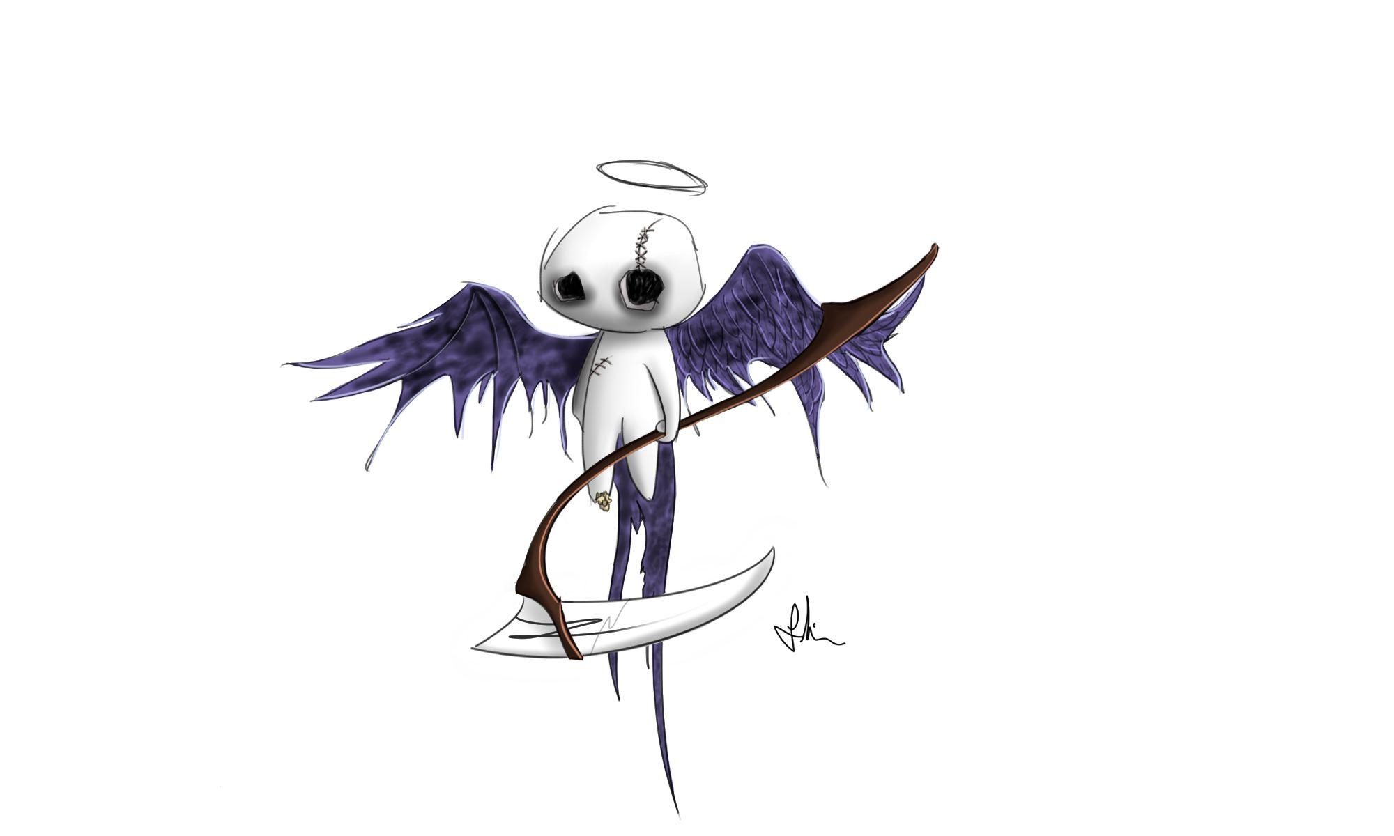 fallen angel sketch pat monster concept pinboard