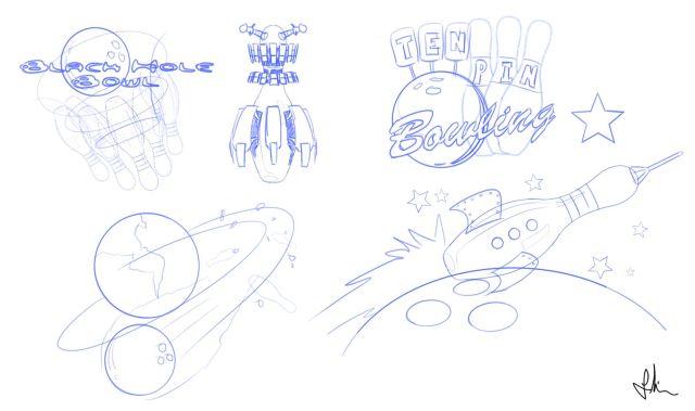 bowling sketching1